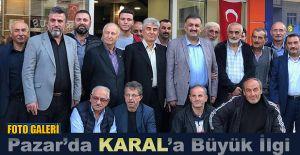 Hasan Karal'a Pazar'da yoğun ilgi