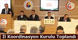 İl Koordinasyon Kurulu Toplantısı, Vali Kemal Çeber, başkanlığında yapıldı.