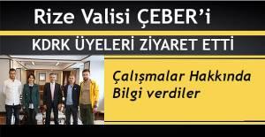 KDRK'DAN VALİ ÇEBER'E TEŞEKKÜR PLAKETİ