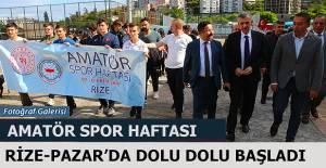 Pazar'da Amatör Spor haftası etkinlikleri başladı.