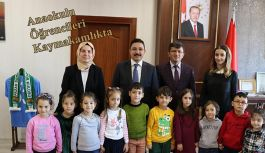 Anaokulu öğrencileri Kaymakam Ayhan Terzi'yi ziyaret etti.