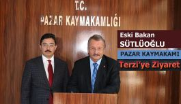 Eski Bakan Pazar Kaymakamı Terzi'yi Ziyaret Etti.