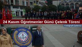 Pazar'da 24 Kasım Çelenk Sunma Töreni Yapıldı.