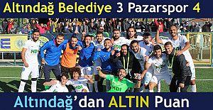 Pazarspor Ankara'dan 3 puanla döndü