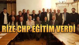 CHP Rize'de Eğitim Verdi