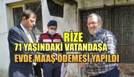 Rize'de 65 Yaş Üstü Vatandaşın Emekli Maaşını Vefa Sosyal Destek Grubu Ulaştırdı