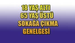 18 Yaş altı ve 65 Yaş Üstü Genelgesi