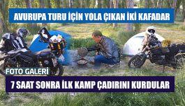 Motosiklet çılgınları ilk molayı Erzurum'da verdiler.