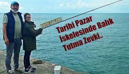 Tarihi Pazar İskelesinde balık avı