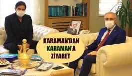 ÜNAL KARAMAN'DAN REKTÖR KARAMAN'A ZİYARET