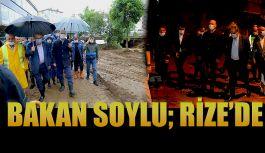 Bakan Soylu: Yaşanan Sel Felaketinin Ardından Rize'ye Geldi