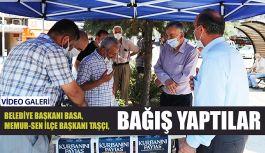 Başkan Basa, Kurbanını Türkiye Diyanet Vakfı'na Bağışladı