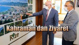 TBMM Eski Başkanı İsmail Kahraman Rize Valiliğini Ziyaret Etti