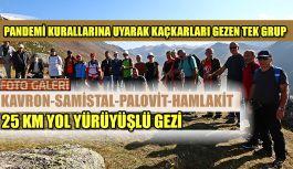 Bölgenin Tek Gezi Düzenleyen Grubundan 25 KM lik Parkur