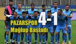 Pazarspor: büyük darbe ile lige başladı 4-1 Mağlup Oldu