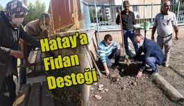 HATAY'A FİDAN DESTEĞİ