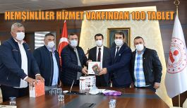HEMŞİNLİLER HİZMET VAKFINDAN KAMPANYAYA 100 TABLET