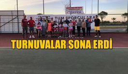 TENİS TURNUVASI SONA ERDİ.