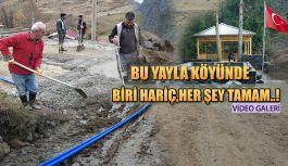 Muhtar Yanmışoğlu: köyümüzde artık yapılacak bir şey kalmadı