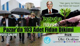 Naci Atabey Parkında Merhum Alpaslan Türkeş adına Şehitleri için Fidan Dikildi