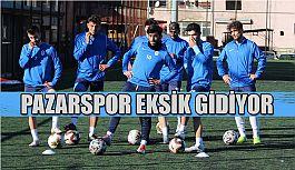 Pazarspor Elazığ deplasmanına birçok oyuncudan yoksun gidiyor.