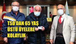TSO 65 yaş üstü vatandaşlarına işlerini kolaylaştırmak için oda üye kartı bastırdı.