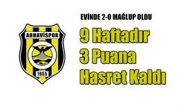 Arhavispor kendi sahasında konuk ettiği Osmaniyespor'a 2-0 yenildi.