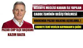 Pazar CHP İlçe Başkanı BALTA Meclis Kararı hakkında Açıklamalarda Bulundu