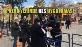 PAZAR YERLERİNDE HES KODU UYGULAMASI