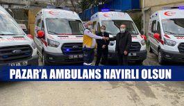 Bakanlıktan Pazar'a  bir Adet 4x4 Ambulans