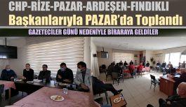 CHP İL VE İLÇE BAŞKANLARI İLE PAZAR'DA TOPLANTI..