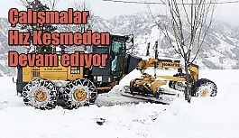 Kar nedeniyle kapanan 291 Köy Yolunda aralıksız çalışma