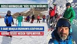 Rize'den Erzurum'a Kayak için gidiyorlar
