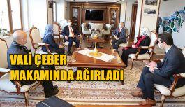 Vali Kemal Çeber,  Lalu Muhamad Iqbal'i Makamında Ağırladı