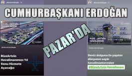 Cumhurbaşkanı Erdoğan'dan Havalimanı'nında inceleme