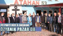 İl Başkanı Özyanık, Balıkçı Esnafıyla Pazar'da bir Araya Geldi