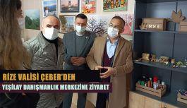 Vali Çeber,Yeşilay Danışmanlık Merkezi'ni ziyaret ederek incelemelerde bulundu.