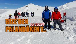 Kayak İçin Rize'den Palandöken'e Geldiler..