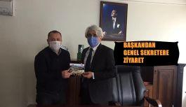 BAŞKAN YILMAZ'DAN İL ÖZEL İDARESİ GENEL SEKRETERİ ABDURRAHMAN ANLAŞ'A ZİYARET