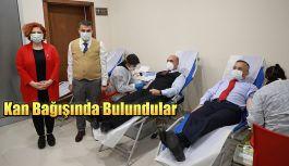 Rize Valisi Kemal ÇEBER,kan bağışı kampanyasına katıldı.
