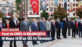 19 Mayıs 1919'un 102. yıl dönümü Rize'nin Pazar ilçesinde kutlandı.