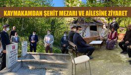 KAYMAKAM CANPOLAT'TAN ŞEHİT MEZARLIĞINA ZİYARET
