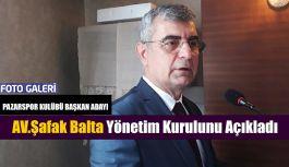 BALTA: Yönetim de yer alacak isimleri açıkladı