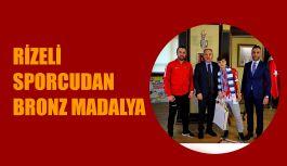 RİZE BELEDİYESPOR'LU AZMİ KOCABEY'DEN AVRUPA'DA BRONZ MADALYA