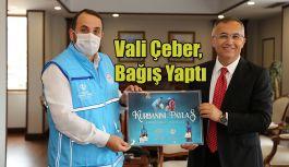 Vali Çeber'den TDV'ye Kurban Bağışı
