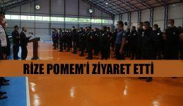 Vali Kemal Çeber'den Rize POMEM'i Ziyaret Etti