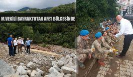 BAYRAKTUTAN:Arhavi ve Borçka'da meydana gelen afetleri gün be gün yerinde takip etmeye devam ediyor.