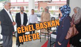 HÜDA PAR Genel Başkanı Yapıcıoğlu selin vurduğu Rize'de halkla buluştu