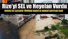 Yağış Rize'de etkili oldu.