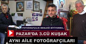 Rize-Pazar'da aynı aile Fotoğrafçılıkta asır devirdi